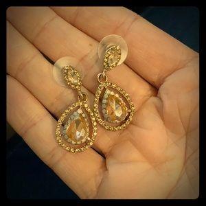 Rose Gold Tear Drop Earrings